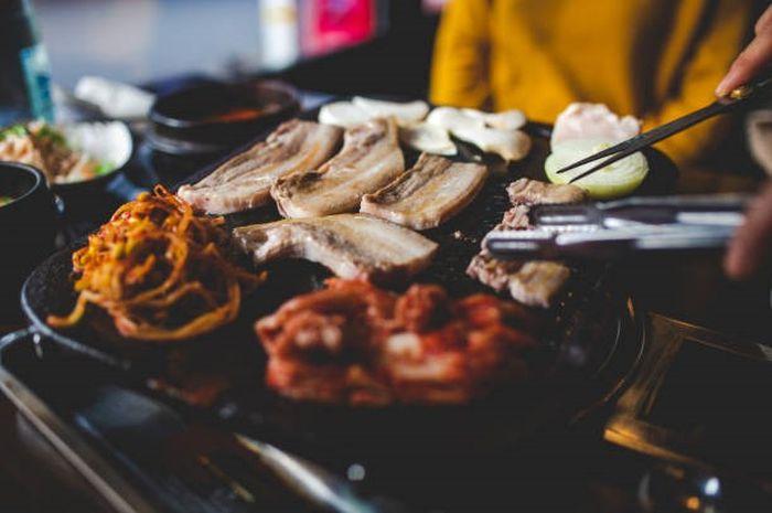Ilustrasi Korean grill
