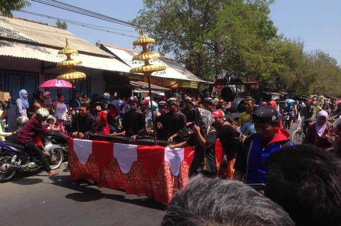 Suasana Kota Demak saat tradisi Grebeg Besar berlangsung
