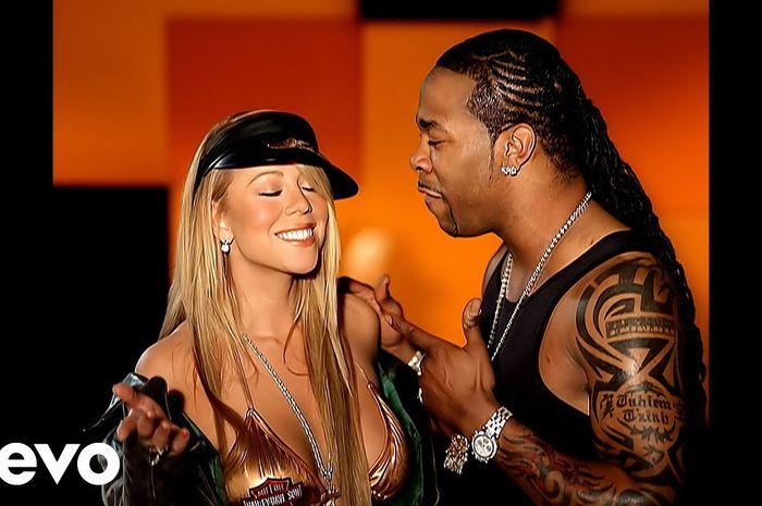 Mariah Carey dan Busta Rhymes dalam video 'I Know what You Want '