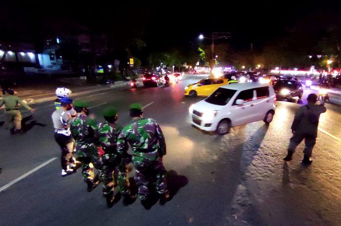 Saat pemberlakuan jam malam di Banjarmasin, beberapa waktu lalu