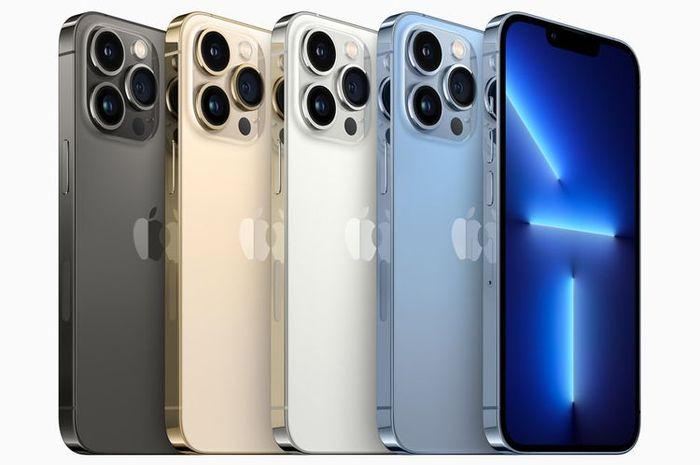 Varian warna iPhone 13 Pro dan iPhone 13 Pro Max terdiri dari graphite, gold, silver, serta sierra blue. (Apple)