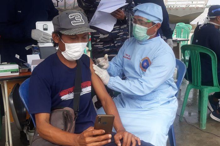 suasana vaksinasi CoVID-19 di Kota Banjarbaru