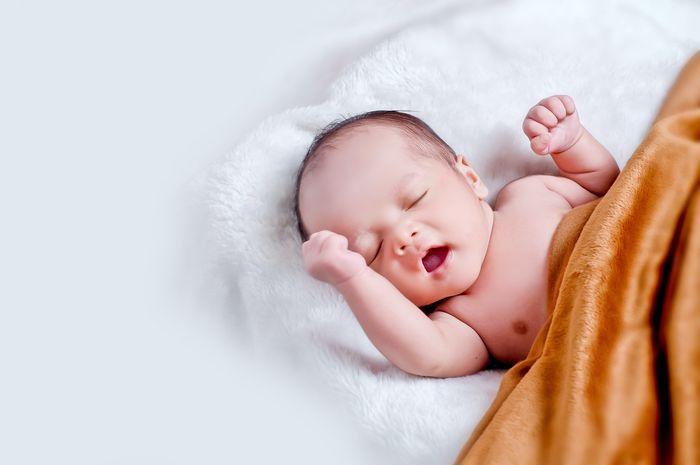 Illustrasi Anak Bayi tertidur