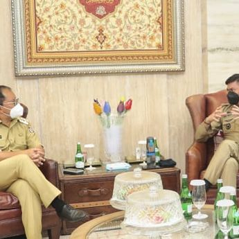 Selaraskan PPKM Level 4, Bupati Gowa Datangi Wali Kota Makassar