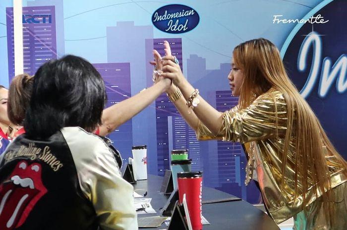 Jenery Cukarla (JC) setelah mendapatkan golden ticket dalam audisi Indonesian Idol 2020