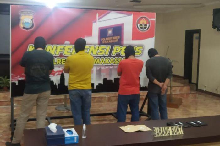 Jumpa pers, penangkapan 4 pejabat pemkot Makassar dalam kasus narkoba