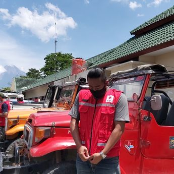 PMI DIY Gandeng Komunitas Jeep dalam Operasi Tanggap Darurat Bencana Erupsi Gunung Merapi